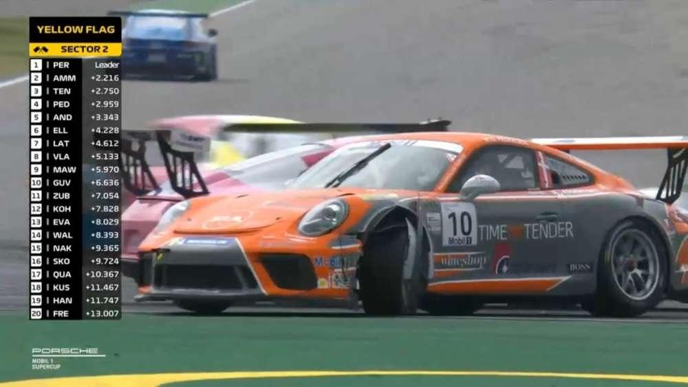 Porsche Mobil 1 Supercup 2019. Race Hockenheimring. Michael Ammermüller & Mikkel O. Pedersen Crash_5d3d70318f8f6.jpeg