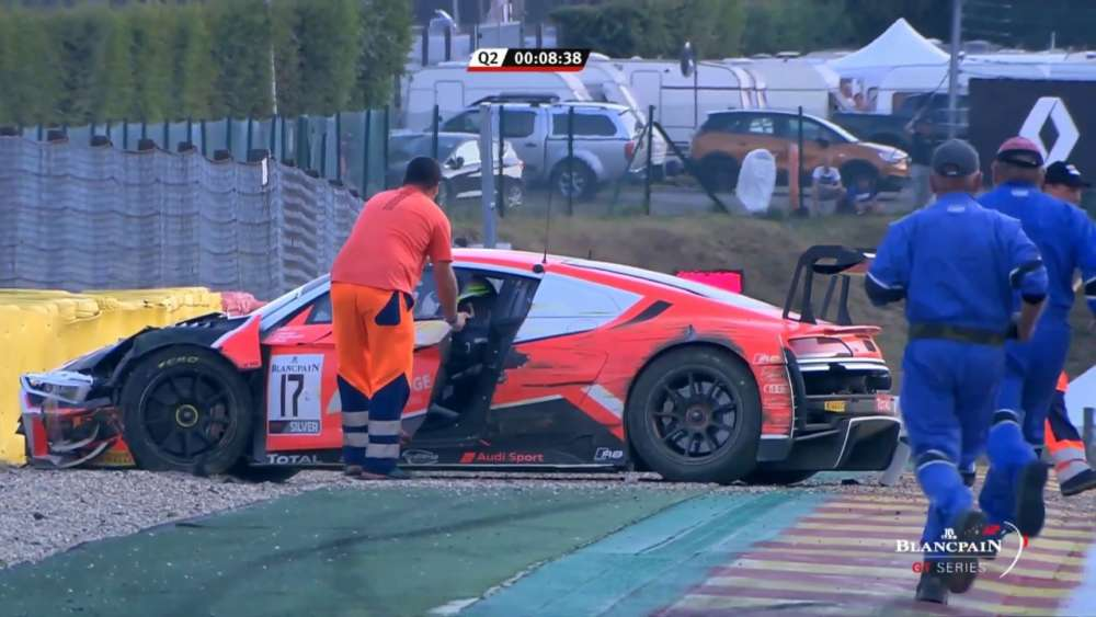 Total 24h of Spa 2019. Qualifying 2. Alex MacDowall Crash Aftermath Red Flag_5d39fca58104f.jpeg