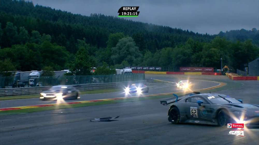 Total 24h of Spa 2019. Race. Matt Parry Crash_5d3ca58702ad3.jpeg