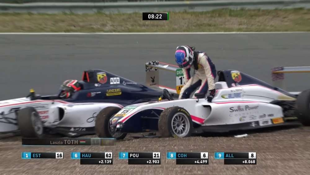 ADAC Formel 4 2019. Race 3 Circuit Park Zandvoort. Arthur Leclerc & László Tóth Crash_5d5068f8ec00e.jpeg