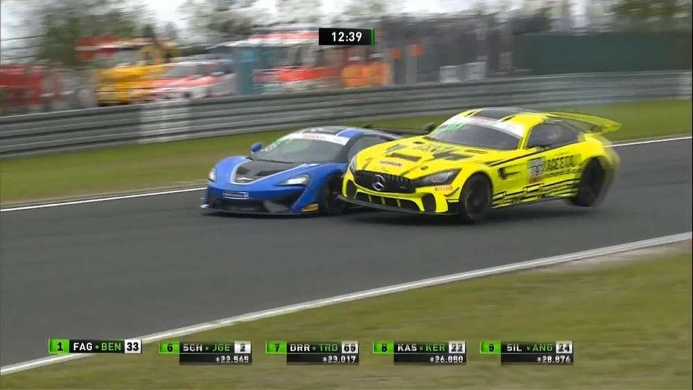 ADAC GT4 Germany 2019. Race 1 Nürburgring. Leaders Collide_5d57dd6d436be.jpeg