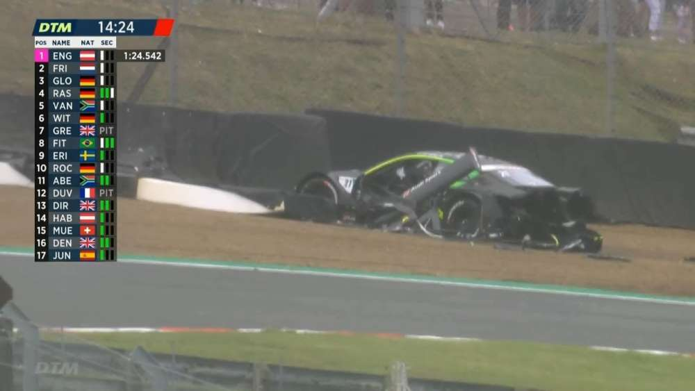 DTM 2019. Qualifying Brands Hatch. Pietro Fittipaldi Huge Crash | Jonathan Aberdein Crash_5d4e97464ee85.jpeg