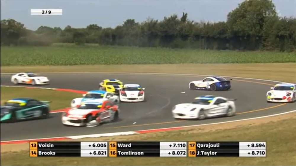 Ginetta Junior Championship 2019. Race 3 Snetterton Circuit. Multiple Collide_5d496e88373b5.jpeg