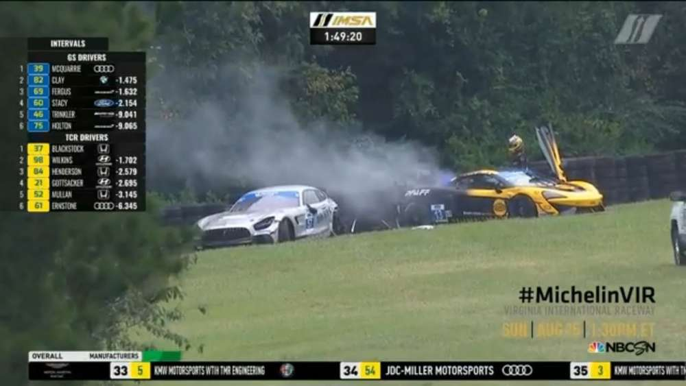 IMSA Michelin Pilot Challenge 2019. Race Virginia International Raceway. Big Crash_5d61861730218.jpeg