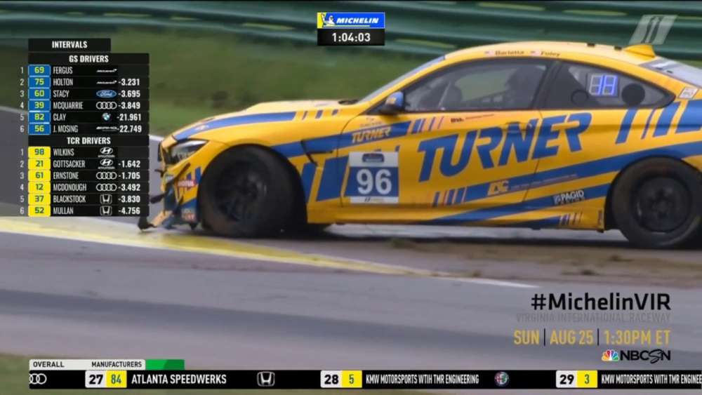 IMSA Michelin Pilot Challenge. Race Virginia International Raceway. Vin Barletta Crash_5d618f7dddd1b.jpeg