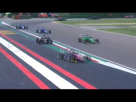 Italian F4 Championship 2019. Race 1 Autodromo Enzo e Dino Ferrari. Umberto Laganella Crash_5d6a5ab78e5c0.jpeg