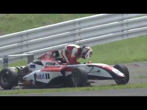 Japanese F4 Championship 2019. Race 1 Fuji Speedway. Seita Nonaka & Kohta Kawaai Crash_5d453d12b2e20.jpeg