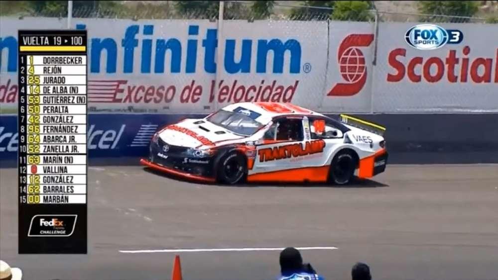 NASCAR FedEx Challenge 2019. Race Autódromo de Querétaro. Javier Campos Crash_5d4c3379c9857.jpeg