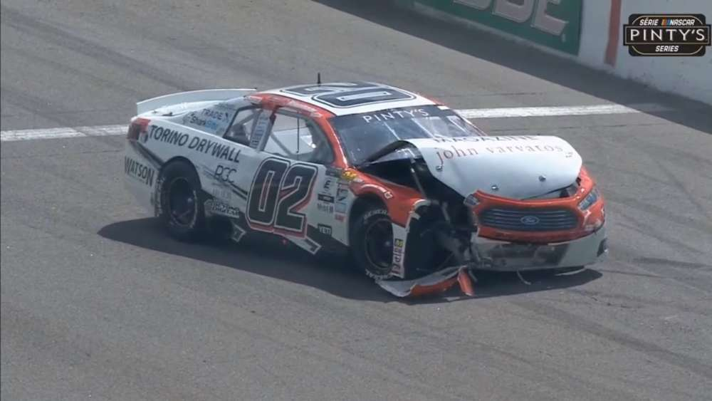 NASCAR Pinty's Series 2019. Race Canadian Tire Motorsport Park. Restart Crashes_5d62e35196ed3.jpeg