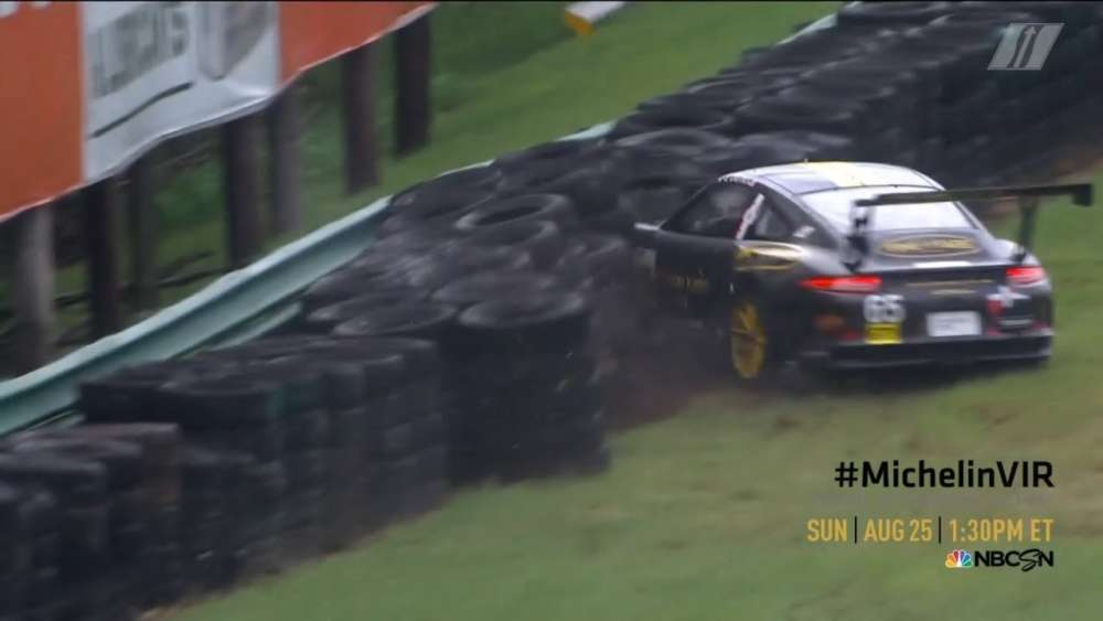 Porsche GT3 Cup Challenge USA 2019. Virginia International Raceway. Efrin Castro Crash_5d629d080ad74.jpeg