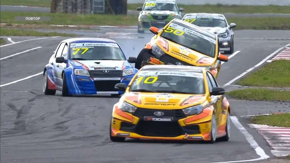 SMP RCRS (Super Production/Touring-Light) 2019. Race 2 ADM Raceway. Borisenko & Nezvankin Crash_5d46f82a7d9c8.jpeg