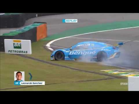 Stock Car Brasil Light 2019. Race 2 Autódromo de Interlagos. Leonardo Sanchez Crashes_5d6640f51c127.jpeg
