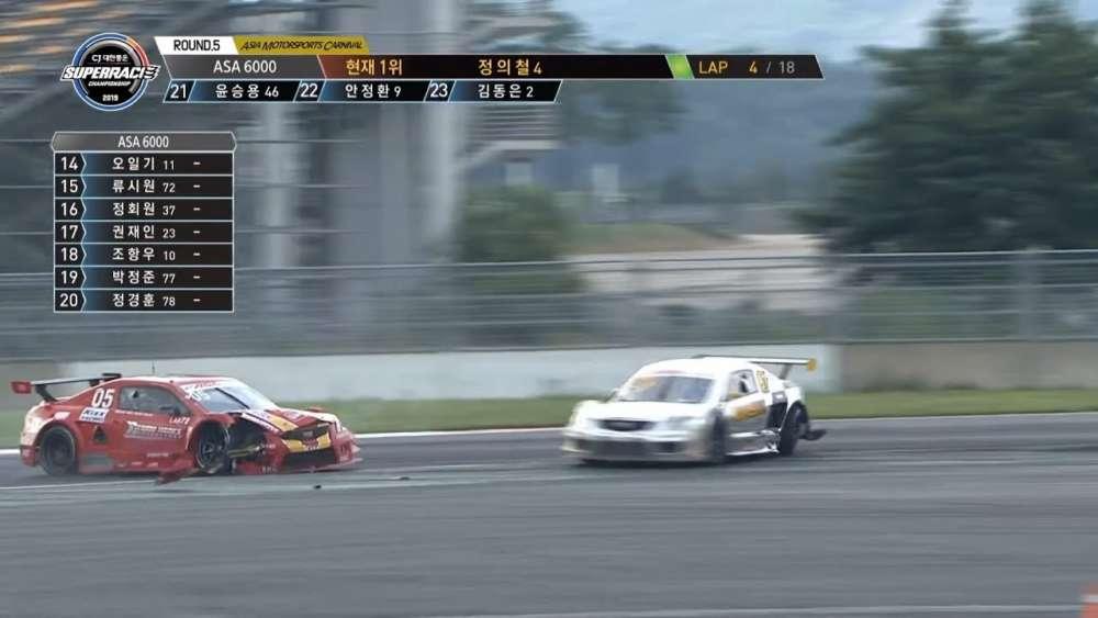 Superrace Championship (ASA6000) 2019. Race Korean International Circuit. Minsang & Kim Big Crash_5d497f2d25b23.jpeg