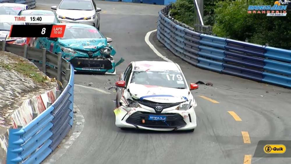 Toyota Altis OMR/Lady Cup 2019. Race 1 Bangsaen Grand Prix. Start Pile Up_5d6a2e2db4819.jpeg