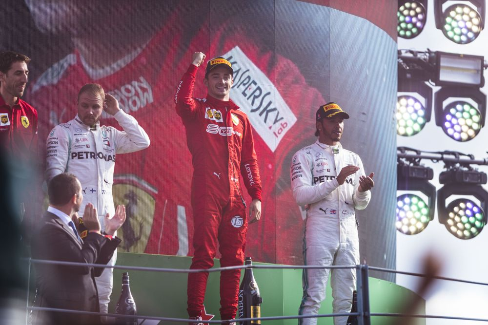 Charles leclerc second win at monza