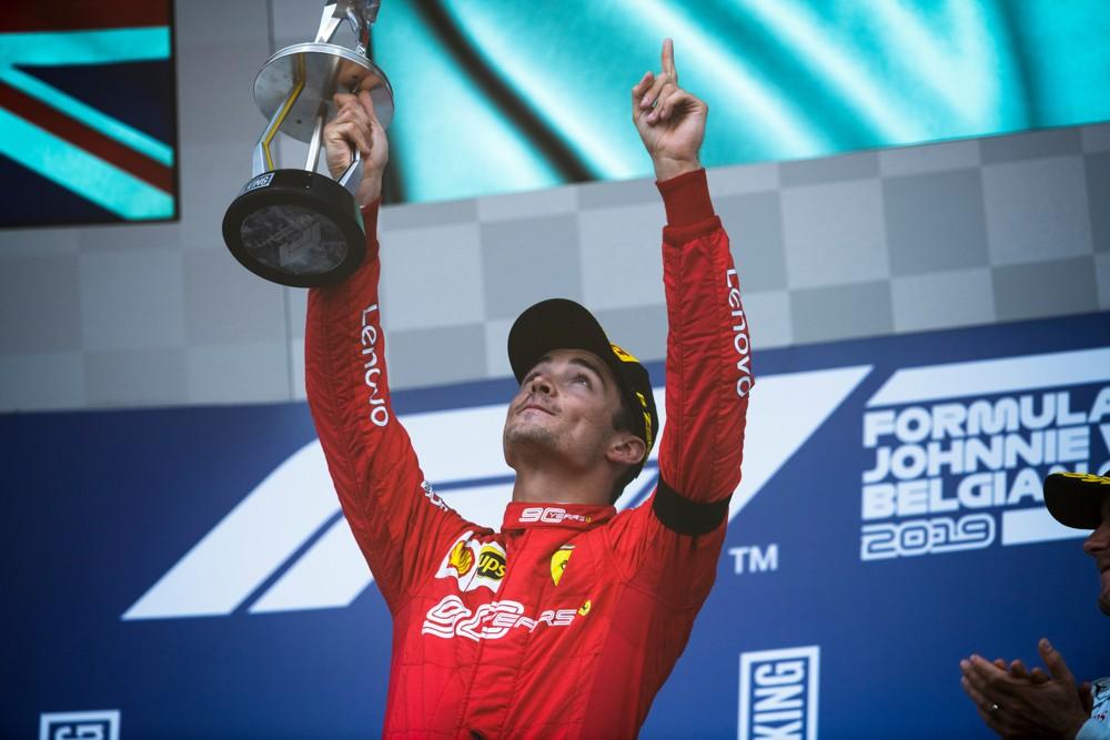 Ferrari Charles leclerc wins first grand prix