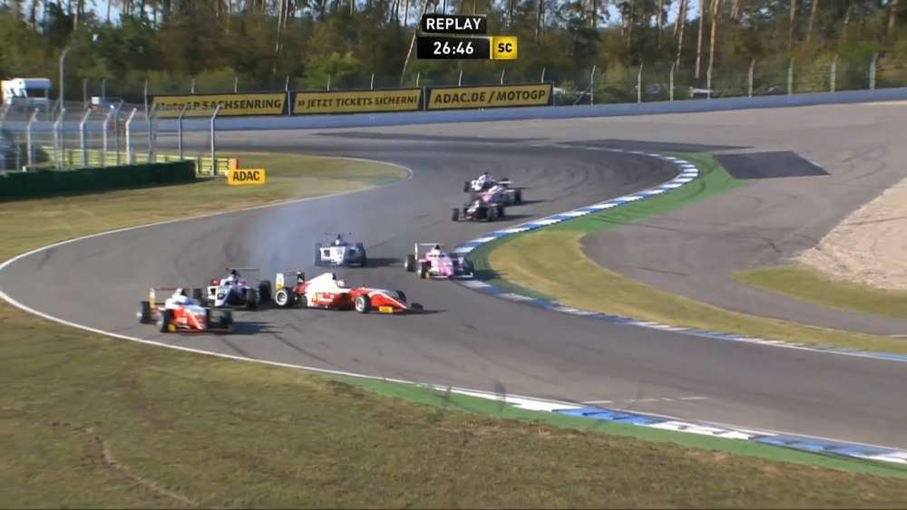 ADAC Formula 4 2019. Race 3 Hockenheimring. Start Crashes_5d7e5984f2053.jpeg