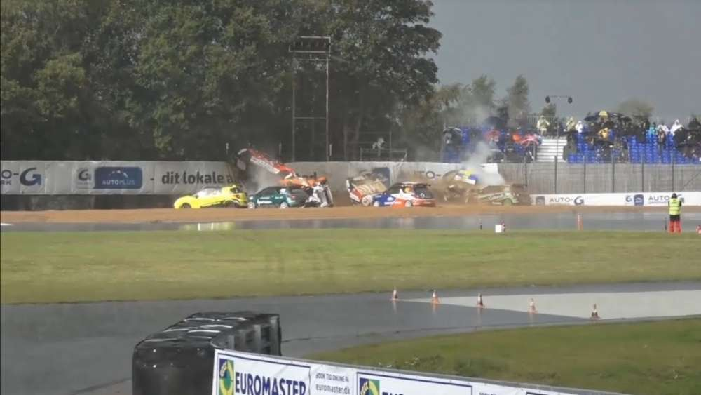 Citroën DS3 Cup Denmark 2019. Race 1 Grand Prix Danmark. Rain Chaos | Huge Crashes_5d73f424a70c8.jpeg