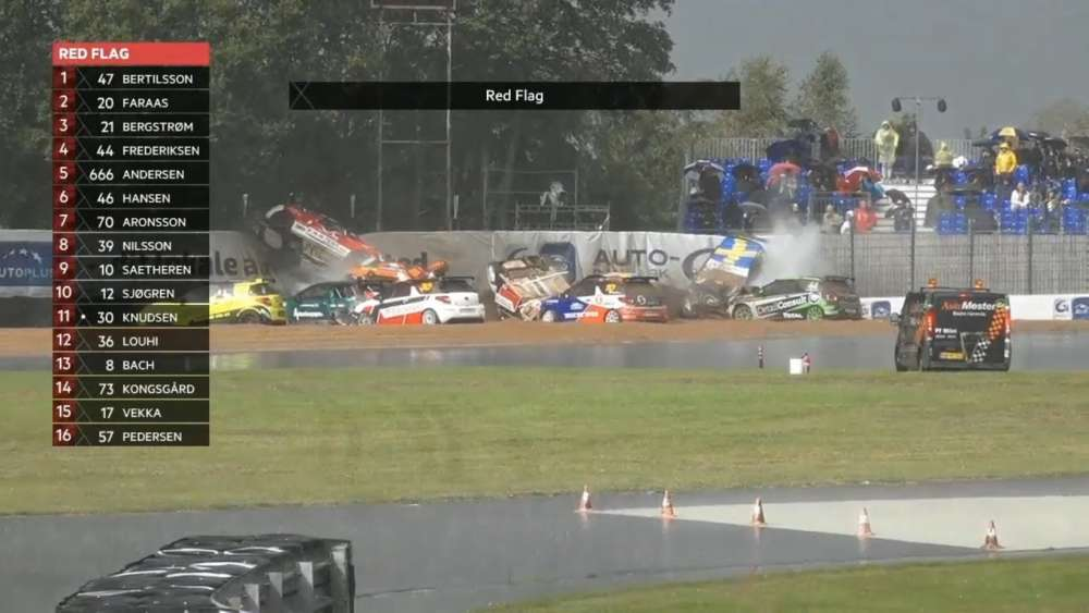 Citroën DS3 Cup Denmark 2019. Race 1 Jyllandsringen. Horror Crash Red Flag_5d739fd10d397.jpeg