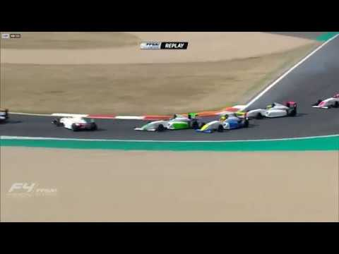 French F4 Championship 2019. Race 2 Circuit de Nevers Magny-Cours. Hadjar & de Gerus Crash_5d7cecf727375.jpeg