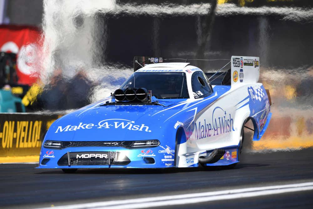 Funny Car - Tommy Johnson Jr. - Mopar Express Lane NHRA Nationals action