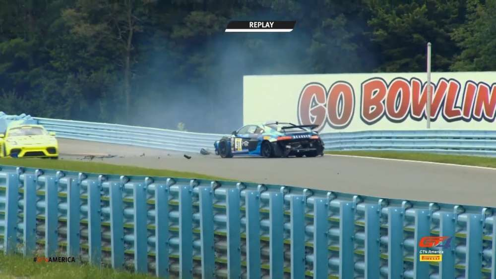 GT4 America (Sprint) 2019. Race 2 Watkins Glen International. Jeff Burton Crash_5d6bf5f9b9c8f.jpeg