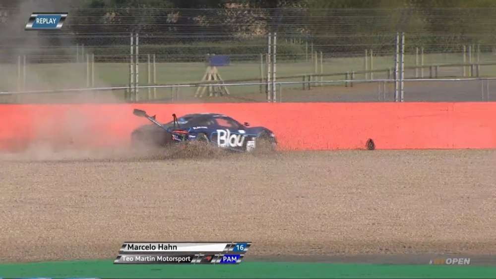 International GT Open 2019. Race 1 Silverstone Circuit. Start Marcelo Hahn Crash | Multiple Crash_5d73d49a6d166.jpeg