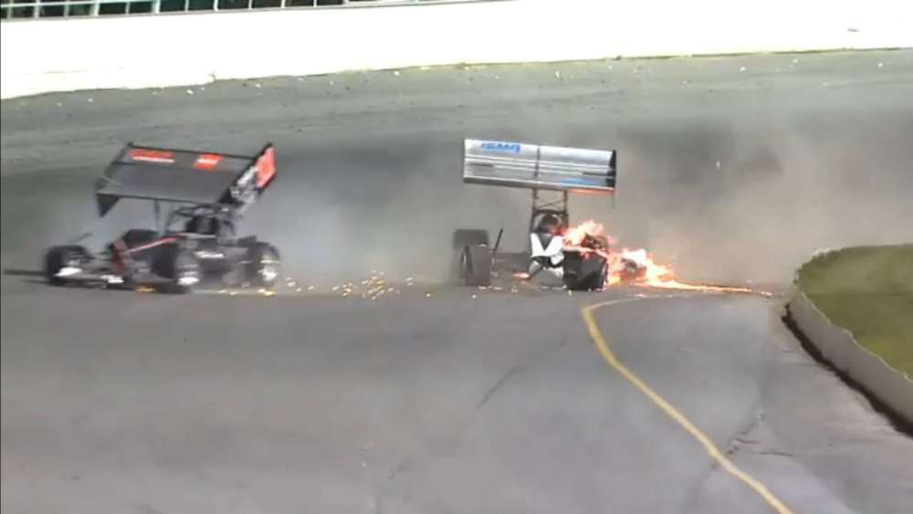 International Supermodified Association 2019. Oswego Speedway. Hard Crash_5d6c4975372b8.jpeg