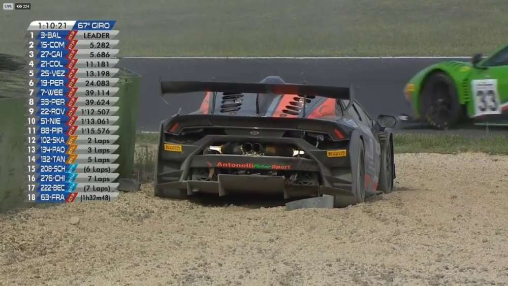 Italian GT Championship 2019. Race Autodromo Vallelunga. Crash_5d7e539739a3c.jpeg