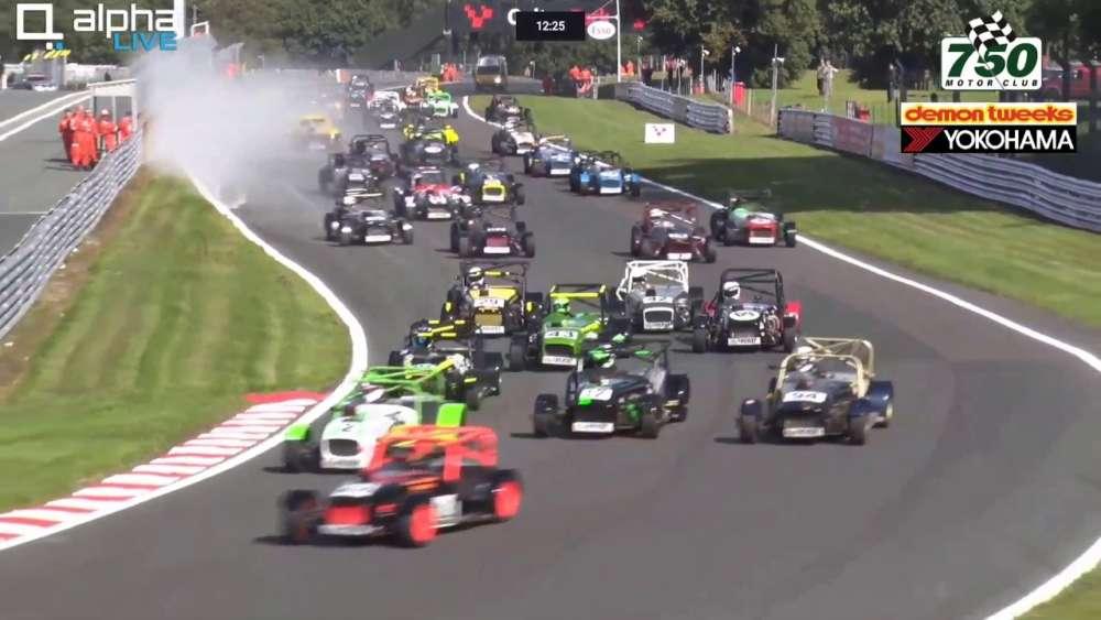 Locost Championship 2019. Race 1 Oulton Park Circuit. Start Crashes_5d7cc06cced98.jpeg