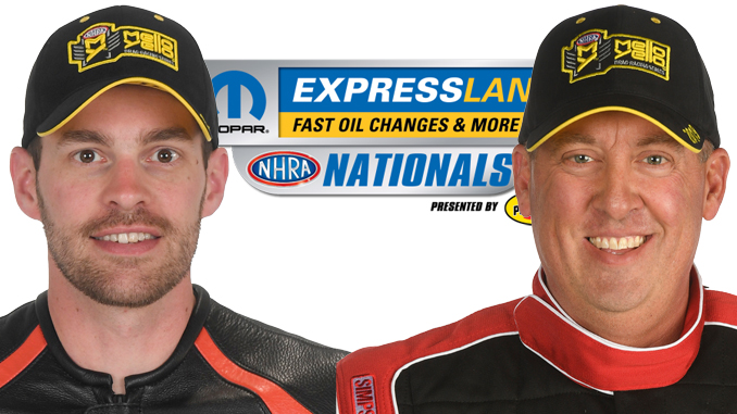 Pro Stock Motorcycle's Andrew Hines & Pro Stock's Bo Butner try to Keep Same Pace at Mopar Express Lane NHRA Nationals presented by Pennzoil_5d7a87e9890fc.jpeg