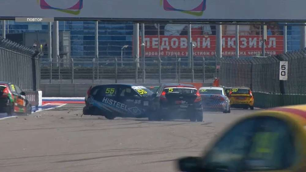 SMP RCRS (S1600) 2019. Race 2 Sochi Autodrom. Collisions | Big Crash_5d74c3f2c6444.jpeg