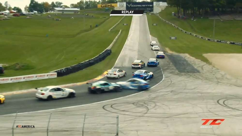 TC America (TC) 2019. Race 1 Road America. Start Paul Terry & Cameron Evans Crash_5d865d79da1ed.jpeg