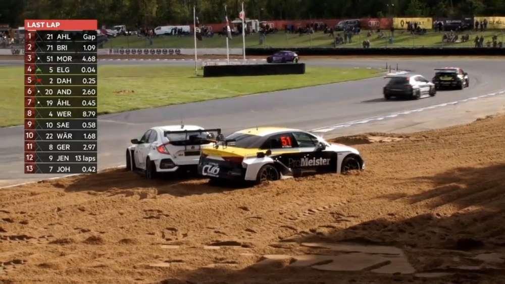 TCR Scandinavia 2019. Race 2 JDM Jyllandsringen. Last Lap | Hannes Morin & Casper Elgaard Crash_5d752288b80ea.jpeg
