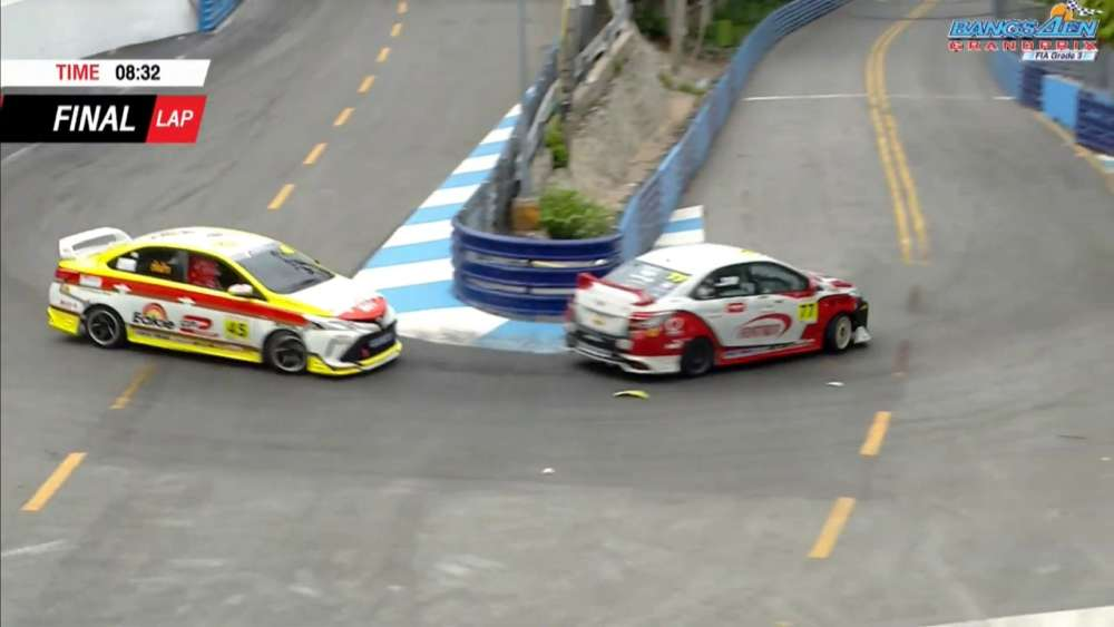 Toyota Vios One Make Race (Group 1+2) 2019. Bangsaen Grand Prix. Multiple Crash_5d6bf99f2bc1a.jpeg