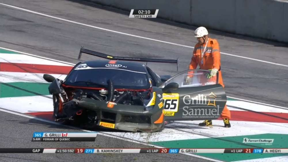 Ferrari Challenge North America 2019. Race 1 Autodromo Internazionale del Mugello. Big Crash_5db37de7381be.jpeg
