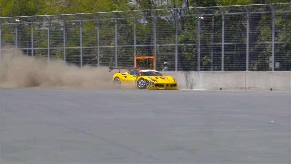 Ferrari Challenge North America 2019. Race 2 Circuit Gilles Villeneuve. Crash_5db37df36bbfc.jpeg