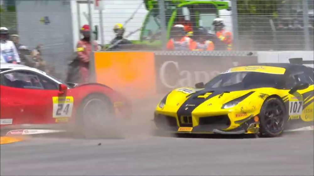 Ferrari Challenge North America 2019. Race 2 Circuit Gilles Villeneuve. Start | Crashes_5db37dff89ae4.jpeg