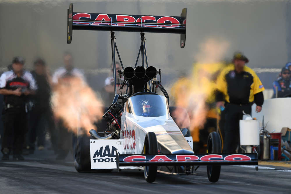 Top Fuel - Steve Torrence - Auto Club NHRA Finals action
