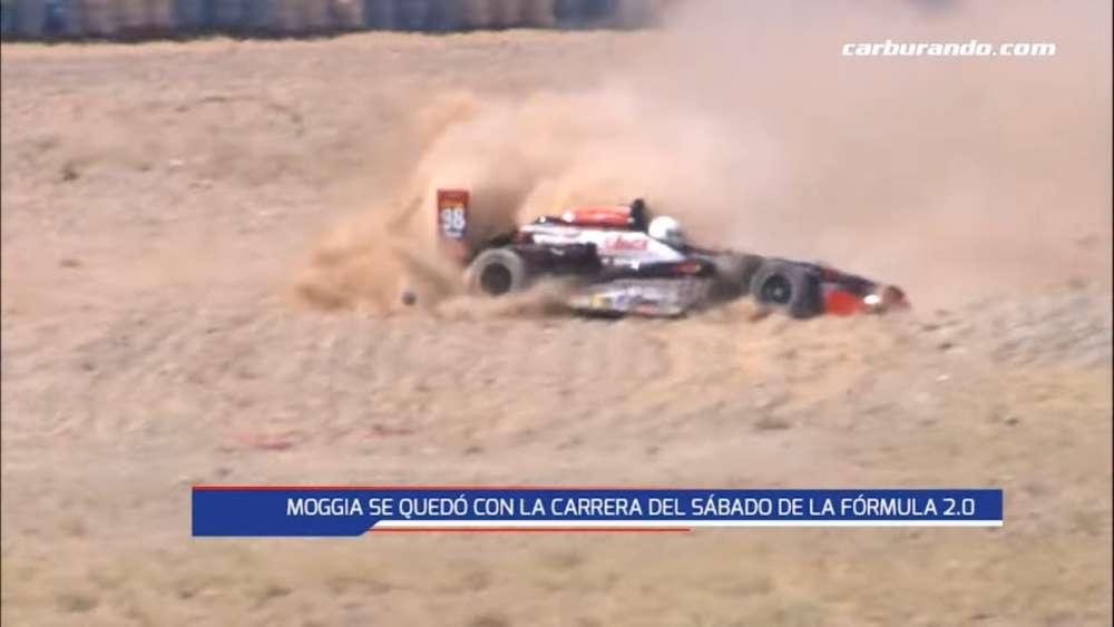 Fórmula 2.0 Renault 2019. FR1 Autódromo Parque Provincia del Neuquén. Big Crash Flip_5e1d201e50f92.jpeg