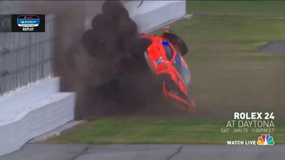 Michelin Pilot Challenge 2020. Daytona International Speedway. Big Crash Flip_5e2b6d01152fc.jpeg