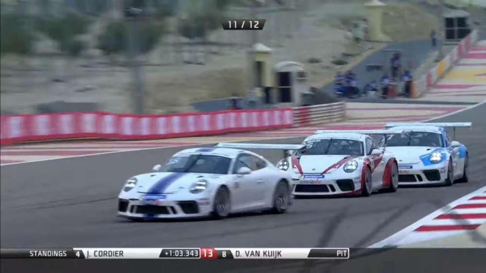 Porsche GT3 Cup Challenge Middle East 2019. Race 1 Bahrain International Circuit (3). Battle for Win_5e1d202d0b87b.jpeg