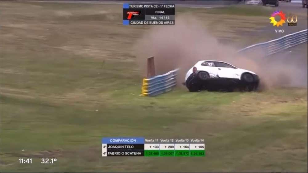 Turismo Pista (Clase 2) 2020. FR Autódromo Juan y Oscar Gálvez. Hard Crash_5e629f6376eab.jpeg