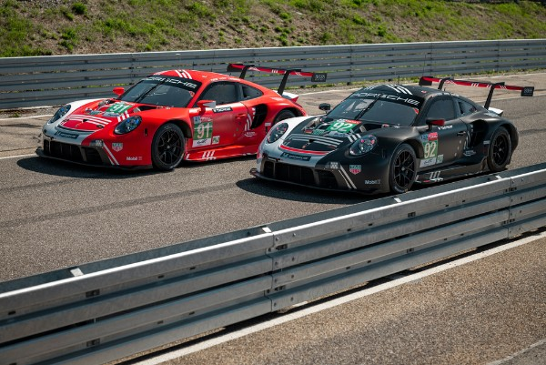 PORSCHE CARS LINE UP WITH SPECIAL LIVERIES AT LE MANS